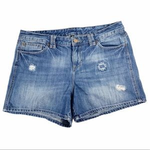Gap Distressed Denim Shorts, Size 14